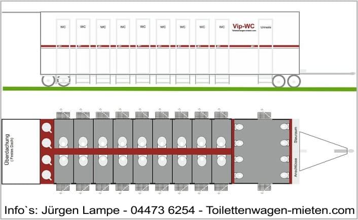 Toilettenwagen Lampe