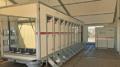 Grosser Toilettenwagen im Zelt Landjugendparty